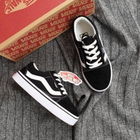 Sepatu Anak Vans Old Skool Black White Premium BNIB