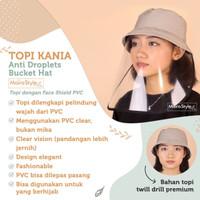 Topi Kania Anti Droplets (Bucket Hat) Pelindung Corona PVC