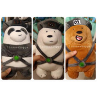 Boneka Miniso - We Bare Bears Standing Plush Toy with Hat