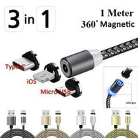 Cable Data Magnetic 3 In 1 Nylon(Micro,Type C,IphonE) Fast ChargiNG