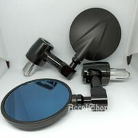Spion Jalu Bulat Full Black Spion Jalu CNC Nmax - Vespa - Lexi - Dll