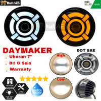 Daymaker 7 inchi Tipe Ironman Style Dot Sae High Lo Beam Daymaker Led