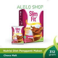 Slim&Fit choco malt 312 g slim fit meal replacement susu bubuk cokelat