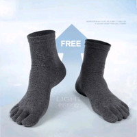 kaos kaki pria wanita kantor 5 jari sock anti bau anti bakteri Promo