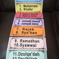 Pajangan Edukatif Nama Bulan Hijriyyah Kayu
