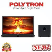 TV LED POLYTRON 43 INCH CINEMAX SOUNDBAR & SUB WOOFER NEW SERIES