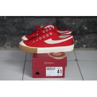 Sepatu Compass Gazelle Low Red Gum