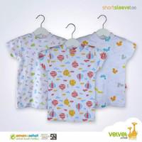 libby oblong pendek rib motif print - baju bayi murah grosir