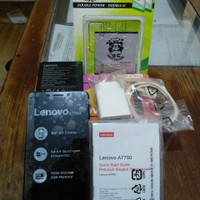 Lenovo A7700 5.5 inch 4G LTE Mulus Fullset Segel Original bawaannya