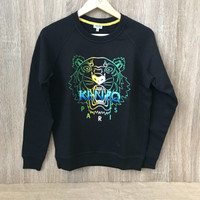 Baju kenzo wet tiger sweatshirt black woman authentic original asli