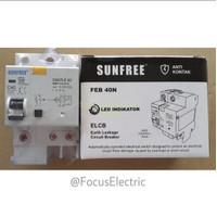 Anti Kontak / ELCB 2 Pole 40 Amper Sunfree