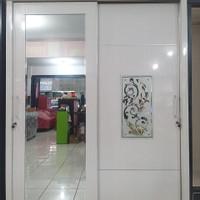 lemari hpl 2 pintu sliding jumbo