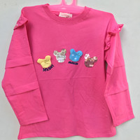 Baju Atasan Kaos Anak Perempuan Impor Lengan Panjang Usia 7 Tahun