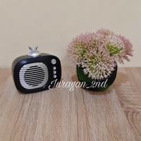 Speaker bluetooth jbl Md98 radio classic - Hitam