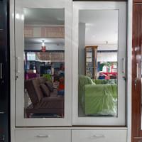 lemari hpl 2 pintu sliding