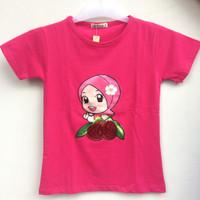 Baju Atasan Kaos Anak Perempuan (ada LED) Usia 7 tahun