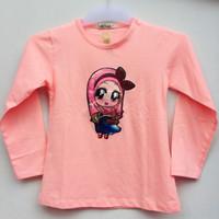 Baju Atasan Kaos Anak Perempuan (bisa nyala) Muslimah 5-6 Tahun
