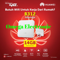 Modem Wifi Home Router 4G LTE Huawei B312 UNLOCKED Free Telkomsel 14GB