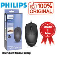 Philips Wired Mouse M234 / SPK7234 Black Original & Bergaransi