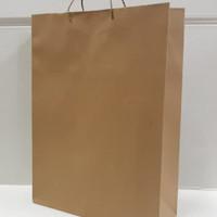 paper bag 26x9x34 | tas kertas kraft coklat isi 12