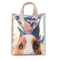HUSH PUPPIES Mika Mirror Tote Bag L In Silver yellow
