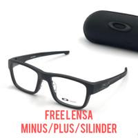 frame kacamata pria paket lensa anti radiasi minus ox splinter