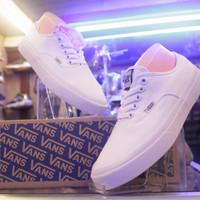 sepatu vans putih polos authentic (premium) pria dan wanita