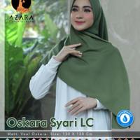 Jilbab Hijab Kerudung Polos Oskara Syar'i Lasercut Waterproof By Azara