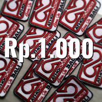Patch / Emblem / Logo Bordir Komputer Custom - Kelipatan 1000