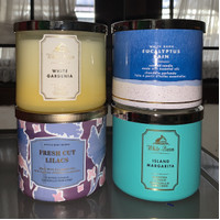 BATH AND BODY WORKS CANDLE 3 WICKS / BBW CANDLE 3 WICKS