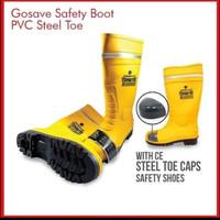 Sepatu Boot safety rubber GOSAVE Sparta/sepatu boot ujung besi