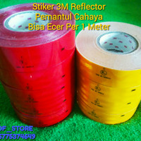 Stiker 3M Reflektif Reflektor Mobil - KIR DISHUB TRUK BOX -Per 1 meter - Kuning