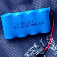 Baterai RC 4 Soket Hitam 2/3 AA 4.8V - Batre 4 Soket Hitam 4.8V 2/3 AA