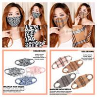 tiffa masker scuba premium motif balenciaga - Balencia White