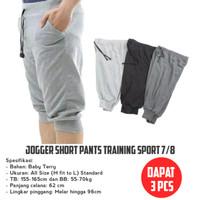 DAPAT 3 PCS - JOGGER SHORT PANTS TRAINING SPORT 7/8