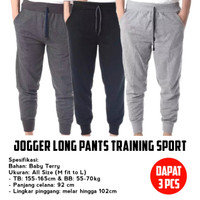 DAPAT 3 PCS - JOGGER LONG PANTS TRAINING SPORT