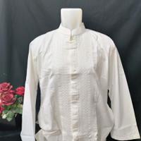 baju koko Jumbo al luthfi putih lengan panjang murah