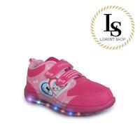 Sepatu Hello Kitty LED perempuan / kets lampu / Sport Kids import