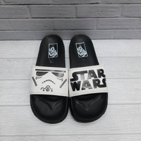 Sandal Pria Vans Star Wars slide Black White Grade Ori 100% - Hitam, 40
