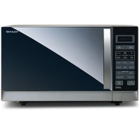 MICROWAVE MEWAH SHARP R728S OVEN & GRILL SILVER Black NEW