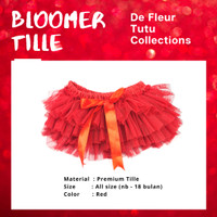 Rok tutu bayi tille Bloomer merah