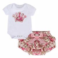 Setelan Bayi Perempuan Kaos Motif Bunga dan Rok Tutu