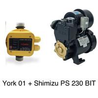 Paket Shimizu Pompa PS-230 BIT + York 01 Automatic Pressure Control