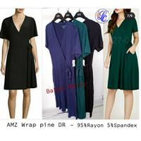 AMZ Wrap pine DR Dress