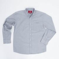 Kemeja Oxford Pria Premium Light Grey Slim Fit