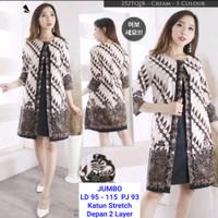 Dress Batik Babydoll / Tunik Batik Bigsize Bahan Katun Stretch