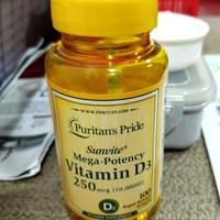 puritan's puritan pride d3 vit d3 vitamin d3 10000 iu 10000iu 100 sg