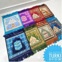 Sajadah Turki Kecil (33 x 33 cm)   Oleh-oleh Haji/Umrah