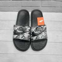 Sandal Pria Nike Benassi Army Black Grade Ori 100% - Hitam, 39