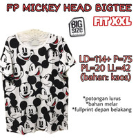 FP Mickey Head Bigtee XXL Kaos Jumbo Santai Wanita